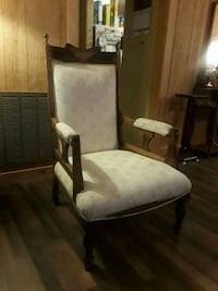 gray and white padded armchair Steele, 35987