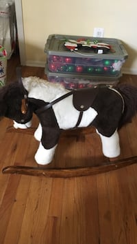 white and black rocking horse Hempstead, 11756