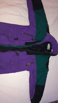 Purple and green zip-up jacket Burnaby, V5H 1R4