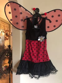 women's black and pink polka dot dress Janesville, 53545
