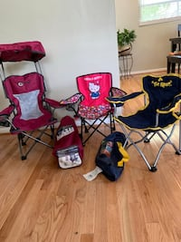 three assorted color camping chairs Woodbridge, 22191