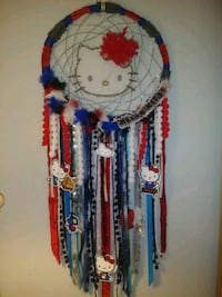 blue, red, and white beaded necklace Grande Prairie, T8W 2Y7