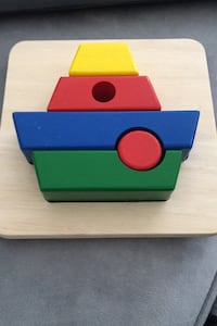 Wood boat puzzle