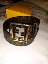 brown Fendi leather belt with silver buckle Houston, 77077