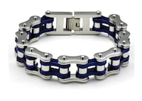Mens D&Z Stainless Steel Motorcycle Bike Chain Bracelet Biker Jewelry 8 Inches- FRRE SHIPPING (FEDEX. USPS) Boston, 02136