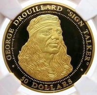 GOLD SHAWNEE NATION GEORGE DOUILLARD $50 DOLLAR    Houston, 77036