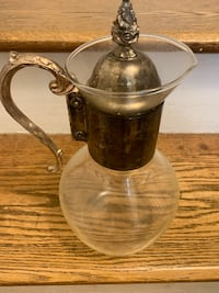 Vintage glass and silver coffee pot