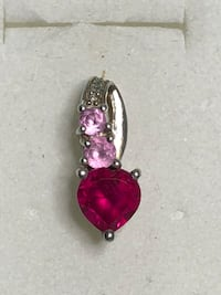 Vintage Sterling Silver with Pink Sapphire & Diamond accents Slider Pendant Springwater