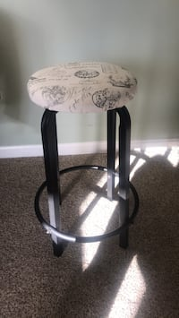 Black and white bar stool Sterling, 20165