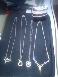 Necklace and bracelets