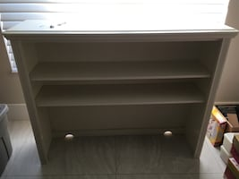 Solid Wood Desk Hutch