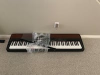 Piano keyboard with stand