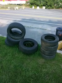 two black auto wheel with tires Lyndonville, 05851