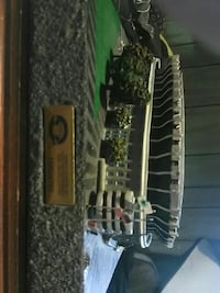 white stadium scale model