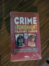 Unopened box of crime and punishment cards