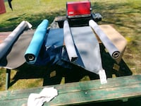 4 rolls of vinyl covers..over 30 yards...4 colors Fairfield, 07004