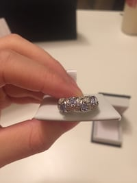 Silver ring in box