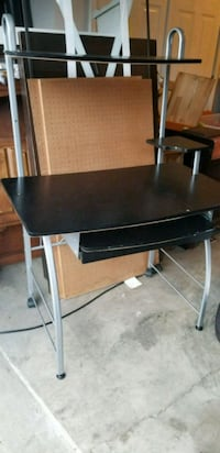 Black and Silver Computer Desk Hilliard