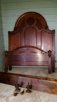 Antique double bed frame