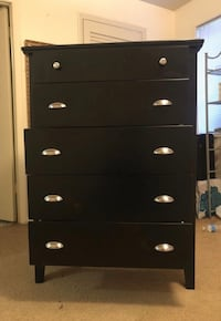 Black wooden 3-drawer chest Annandale, 22003