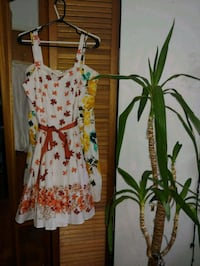 white,red,and yellow floral sleeveless dress 3758 km