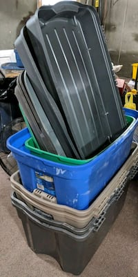 6 Storage Totes With Lids. $20 for all.  New Tecumseth, L0G 1W0