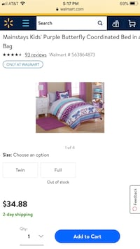 Double Butterfly Bedding Set Spokane, 99224