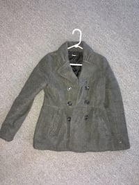 gray double-breasted coat Stafford, 22554