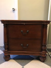 brown wooden 2-drawer nightstand Richmond Hill