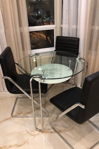 Dining double glass table