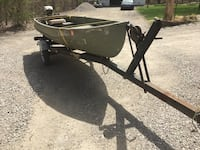 14.5 Meyers boat trailer and outboard motor if interested please call or text Jim at  [TL_HIDDEN]  Dundee, 48131