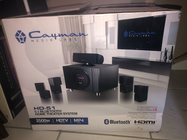 Cayman Media Labs HD 51 5.1 Bluetooth Home Theater System  fc59c02c-f258-476c-8853-a15e620c5f41
