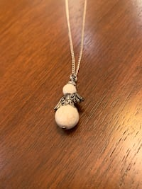 Magnesite angel necklace