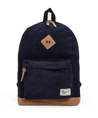 Unisex navy blue corduroy backpack  Hillsborough, 08844