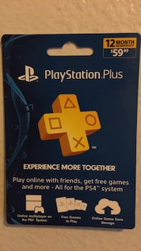 Playstation Plus  1 Year Membership Glendale, 91201