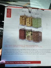 6 piece air tight food storage Canister set Lakewood Township, 08701