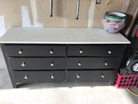 Black and white wooden dresser West Valley City, 84128
