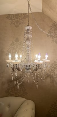 White 6 light chandelier with plug-in Baltimore, 21210