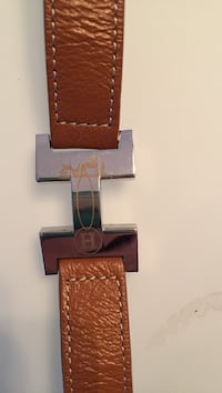 brown leather Hermes bracelet authentic like new