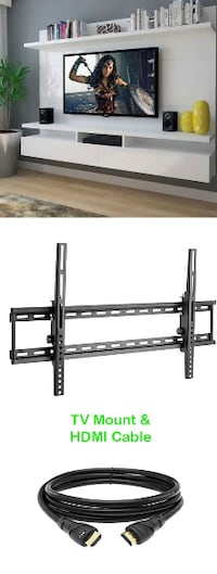 """New $18 Tilt 32""""-60"""" TV Wall Mount and HDMI Cable Combo Alhambra"""