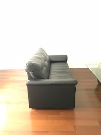 Black leather couch  Long Beach, 90804