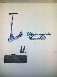 Kick scooter with carry case