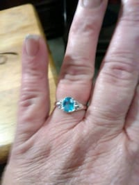 Womens Light Blue Stone Costume Ring Omaha