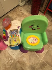 baby's green and purple activity table Colonie, 12205