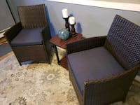 Two all weather chairs with table new moving out o Halethorpe, 21227