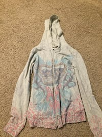 Light green and mult. colored boho jacket