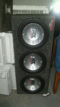 black and gray MTX Audio subwoofer Stamford, 06907