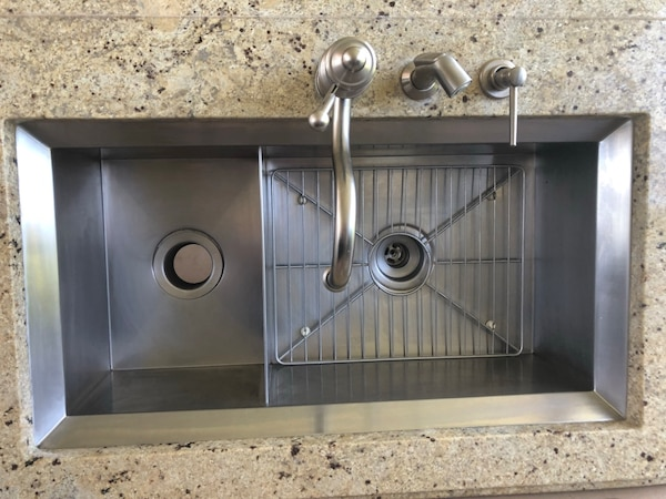 Kohler undermount kitchen sink and faucet set