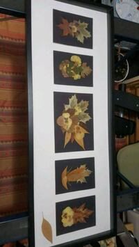 black wooden framed painting of flowers Montréal, H1R 1T3