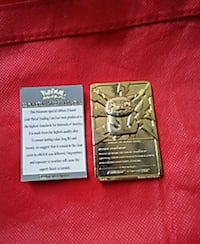 Pikachu 24 carat gold trading card(Burger King)